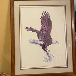 American bald eagle 1970 Hugh Hirtle signed print.